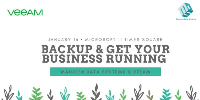 Backup & Get Your Business Running with MDS & Veeam!