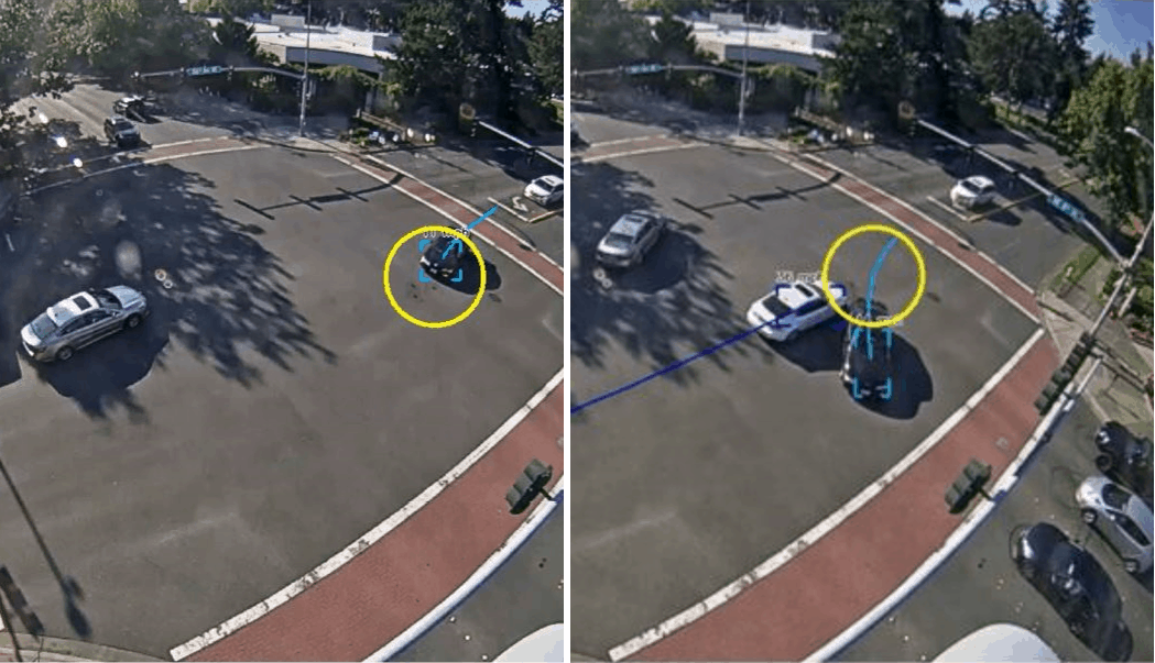 Using traffic cameras and AI to predict future accidents